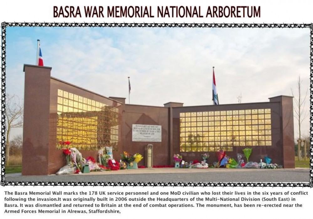 BASRA ,IRAQ MEMORIAL IN THE NATIONAL ARBORETUM