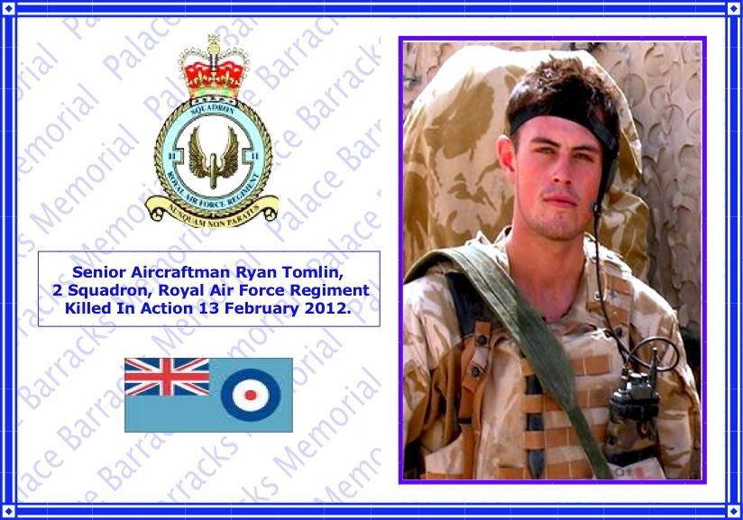 Senior Aircraftman Ryan Tomlin, 2 Squadron Royal Air Force KIA Afghanistan
