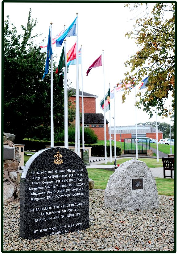 Kings Regiment Checkpoint Victor  2 Memorial. Palace Barracks Northern Ireland