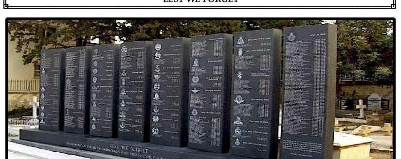 CYPRUS MEMORIAL FOR UK ARMED FORCES