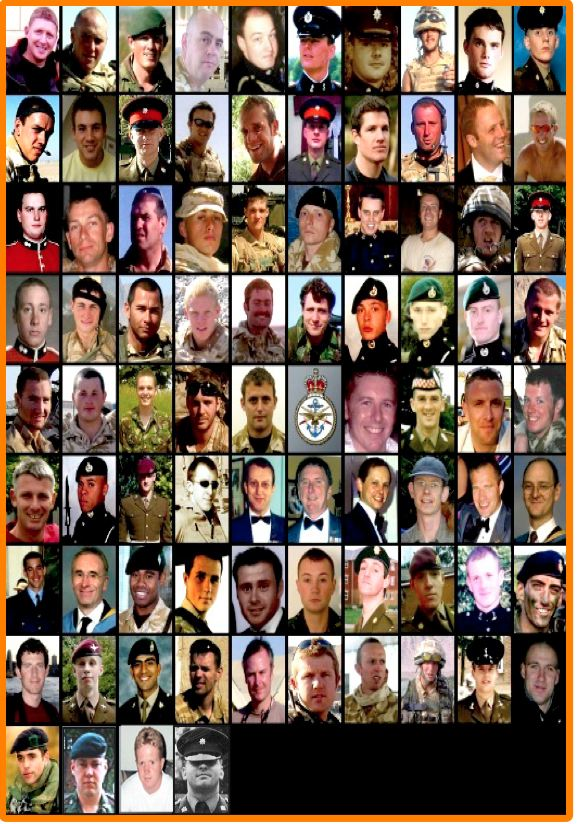 1st 84 SERVICEMEN KILLED IN AFGHANISTAN